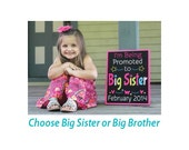 Pregnancy announcement, promoted to big sister, I'm going to be a big sister, DIGITAL FILE, PRINTABLE, new mom, expecting announcement