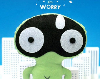 SALE 60% Off - Pattern and Instruction Booklet - PUPUMON Worry