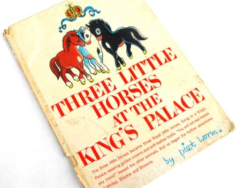 1962 Three Little Horses at the King's Palace Piet Worm Royal Crown Pony Carousel French Circus Carnival Pierrot Clown Children's Literature
