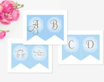 Cinderella Princess Party banner - PRINTABLE INSTANT DOWNLOAD Sleeping Beauty by Itsy Belle