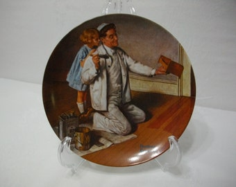 Norman Rockwell The Painter Collectors Edition Vintage Decorative Collectors Plate