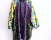 Reserved for AN...Holiday Sale Reversible Bohemian Purple Green Yellow Hooded Jacket