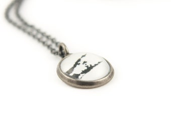 Long Island Map Pendant, Gift for Her, Photography Jewelry, Antiqued Silver Pendant on Oxidized 925 Sterling Silver Chain, Unique gifts