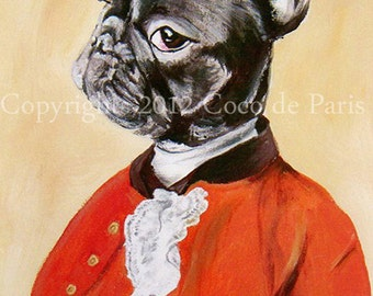 French Bulldog Painting, Acrylic Painting on canvas, Oil, Watercolor, Orange, Gift for him, Geek Wall Art, Wall Decor, Frenchie Art