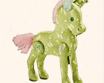 Calico Stuffed Animal Toy Horse Pony Vintage Sewing Pattern PDF ePattern Instant Download