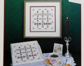 CLEARANCE Judy Whitman CHRISTMAS RIBBONS Sampler By Jbw Designs - Counted Cross Stitch Pattern Chart
