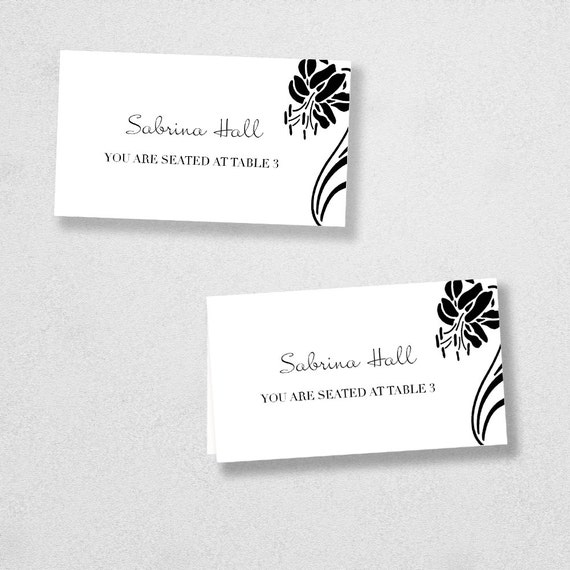 Avery Place Card Template - INSTANT DOWNLOAD - Escort Card - For Word and Pages - Mac and PC - Flat or Folded - Lily Design