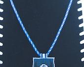 American Indian glass seed bead Buffalo head necklace