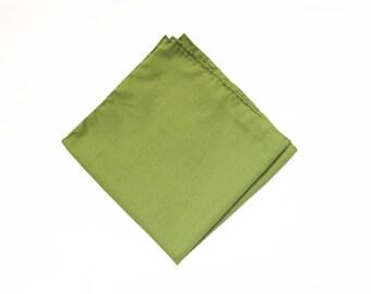 Matcha Green cotton pocket square