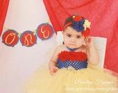 Snow White flower -crochet tutu dress- newborn, 1st, 2nd birthday,Photo Prop, cake smash, Custom size made to order