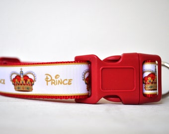 Dog Collar -The Prince - 50% Profits to Dog Rescue
