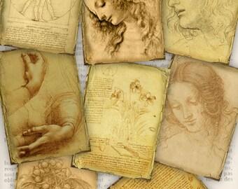 Da Vinci Drawings ATC images - VDATVI0901