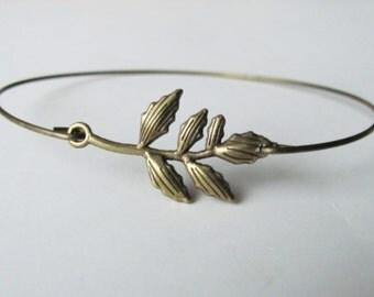 Twig Bracelet Twig Jewelry Branch Jewelry Branch Bracelet Woodland Jewelry Stacking Bracelet Bohemian Jewelry Bangle Bracelet Leaf Bracelet