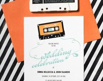Mix Tape Wedding Invitation Printable Template
