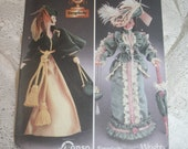 Barbie Doll Pattern Simplicity 7213 Simplicity Diva Doll Collection Scarlett O'Hara and Victorian Lady Pattern for 11 1/2 inch dolls