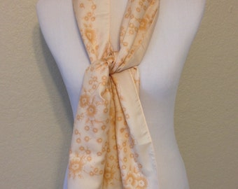 Vintage Beige and Brown Long Scarf 59 Inches Long 13 Inches Wide Previously Twenty Dollars ON SALE