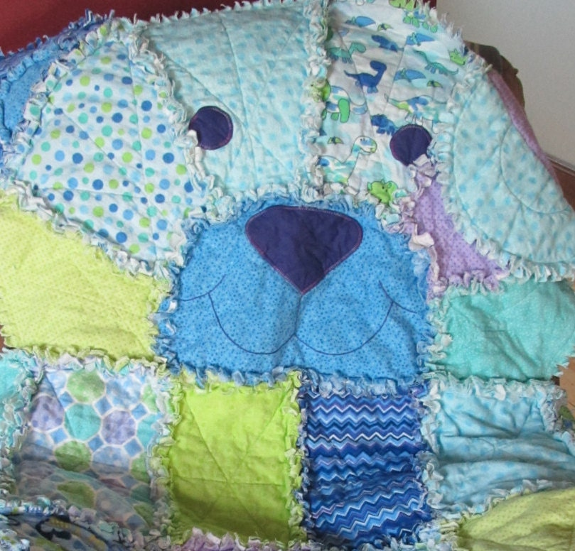 Rag Quilt Pattern Bear : Teddy Bear Rag Quilt