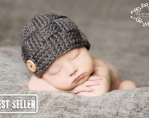 Baby Hat, Charcoal Weave, Best Seller, Newborn Photography Prop