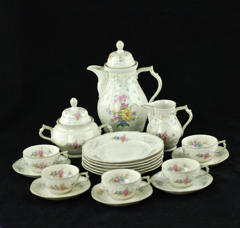 vintage rosenthal sanssouci porcelain coffee service plus 6. Black Bedroom Furniture Sets. Home Design Ideas