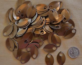 Dragon Scales - Aluminum - Small - Bronze  - Sets of 100