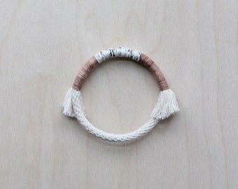 wrapped bangle no. 2 - naturally-dyed cotton yarn and rope bracelet
