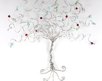 Tree of Life Wall Sculpture Custom Wire Tree