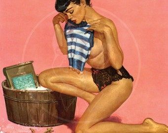 Brulé Pinup (Tight Fit) - 10x13 Giclée Canvas Print of a Vintage Pinup