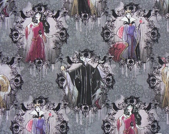 165000067 - Disney Villains - Portraits Fabric by the Yard