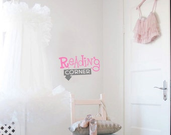 Reading Corner Wall Decal - Nursery Decals for kids - Vinyl Wall Words - Girls Wall sticker - Reading Wall Decal for boys - Playroom decal