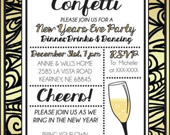 New Years Eve Party Invite