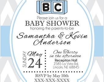 Baby Shower Invite Digital File