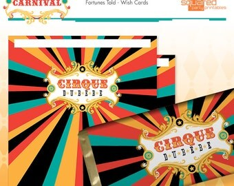 Circus Baby Shower Candy Bar Wrapper - Cirque du Bebe Chocolate Bar Wrapper - Vintage Carnival Baby Shower - Instant Download