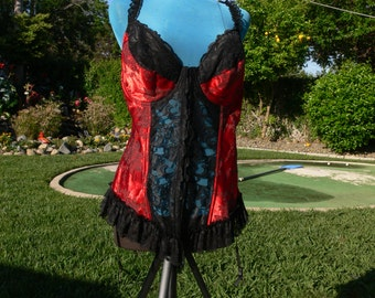 red boned low back corset size bust 42