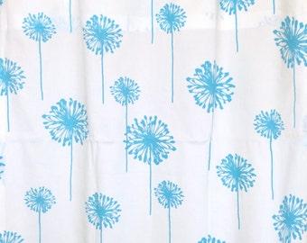 Girly Blue Dandelion Curtain Panels. 25 X 84 Inches READY TO Ship Aqua Blue Nursery Decor. Window Treatments. Drapery Curtains.