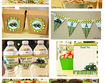 Tractor Birthday Party Ready To Go Package Printable DIY Package