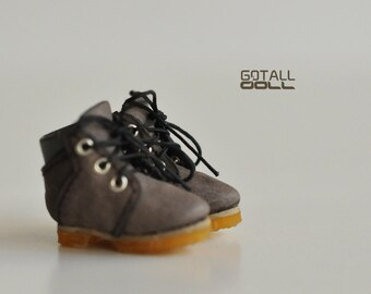 GOTALL doll Outdoor Ankle Boots for Blythe doll - doll shoes - Brown