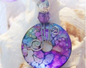 One of A Kind Washer Pendant #106