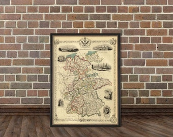 Vintage map of  Germany - Fine reproduction of  Germany map