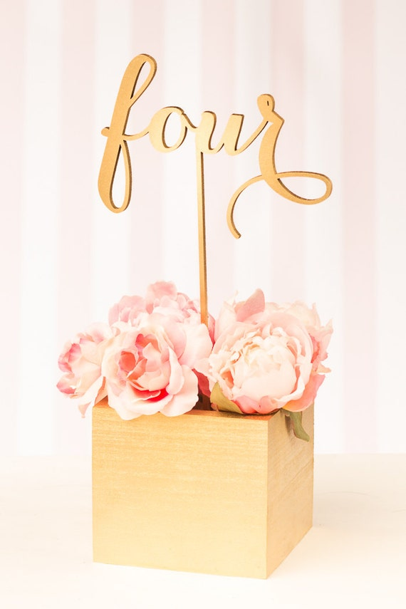 Wedding Table Numbers or Cake Toppers Soiree by BetterOffWed