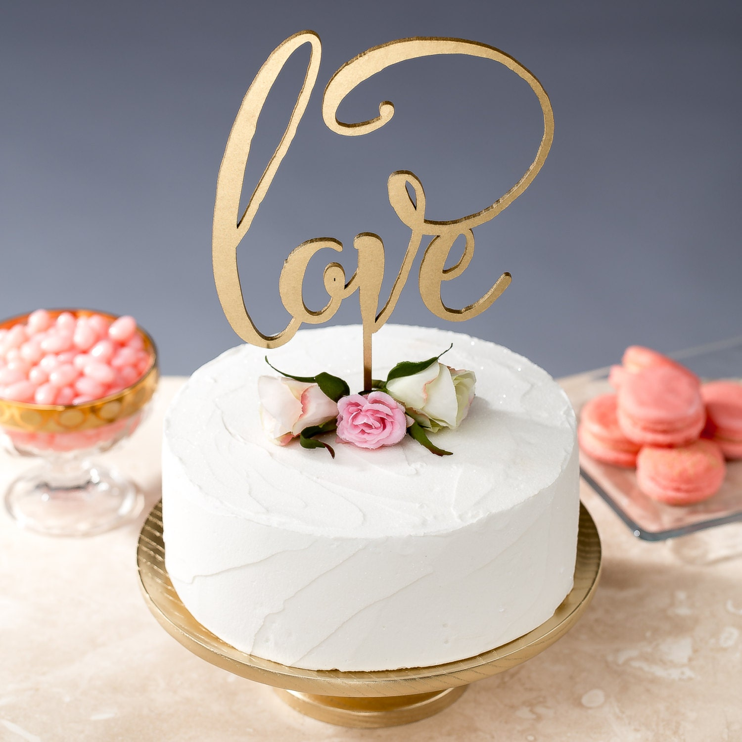 Love Cake Topper Gold Wedding Daydream Collection