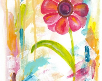 "Inspirational Art - ""Blooming Bliss"" - 8.5x11 Print"