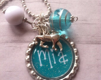 Unicorn Necklace / YoU ChOoSe CoLoR / Horse / Cowgirl / Equestrian / Riding / Show Horses / Horse Collectibles / Pegasus / Pony / Horse Shoe