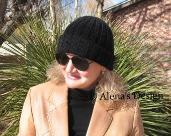 Knitting Pattern 117 - Knitting Hat Pattern - Hat Knitting Pattern - Watchman's Hat - Teens Adults Men Women Winter Hat Slouchy Hat Beanie