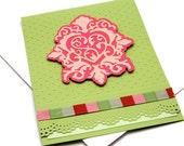 Romantic Valentine Card - Be My Valentine Card - Valentine's Day Greeting Card - Unique Valentine Cards - Embossed Valentine Card