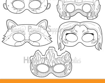 Space Hero Printable Coloring Masks Color Mask