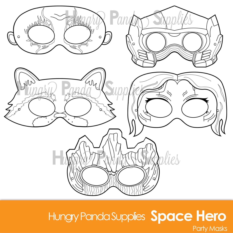 Uncategorized Halloween Mask For Kids space hero printable coloring masks printable