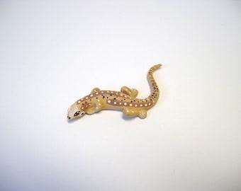 Lizard, miniature ceramic lizard