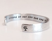 "Grandmother, Mother, Daughter, Family gift - ""blessed be the ties that bind generations"" 3/8"" hidden message bracelet"