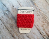 Any Color - Crochet Coffee Cozy - Reusable Coffee Sleeve - Coffee Cup Cozy - Eco-Friendly Coffee Lover Gift - Crocheted Coffee Jacket -