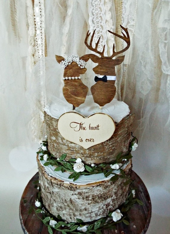 Deer Wedding Buck And Doe Wedding Cake Topper Deer Lover Bride